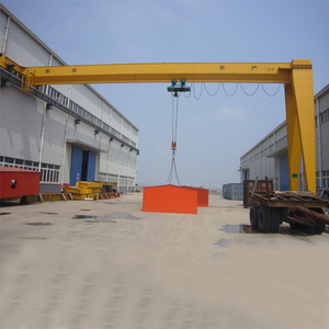 5ton single beam half door portal gantry crane