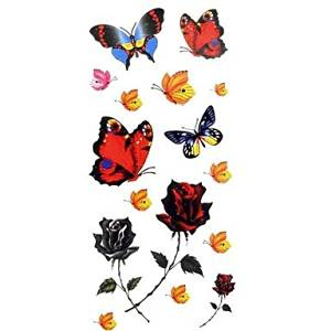 f2326193d0229 Get Quotations · INFINIT-121 1pc Women's Waterproof Temporary Tattoos  Back/Wrist/Neck Tattoos Butterfly Bracelet