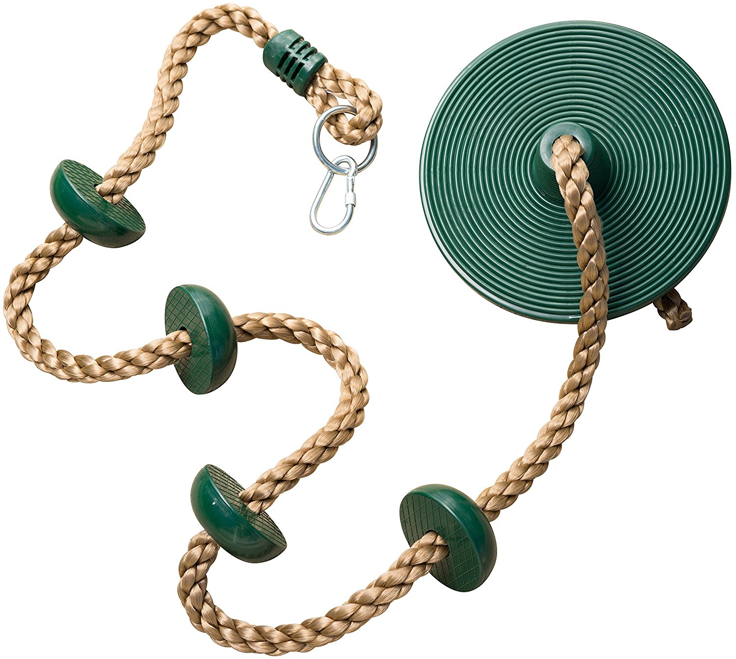 Jungle Gym Kingdom Climbing Rope with Platforms and Disc Swing Seat - Swing Set Accessories