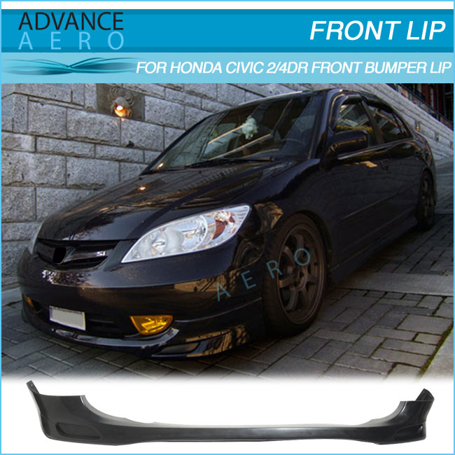 FOR 2004 2005 HONDA CIVIC BODY KIT POLY URETHANE PU PDM STYLE CAR PART