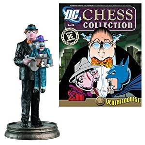 DC Superhero Ventriloquist Pawn Chess Piece with Magazine by Eaglemoss Publications