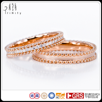 Best Selling Italian Bridal Jewellery Satin Wedding Bands His And