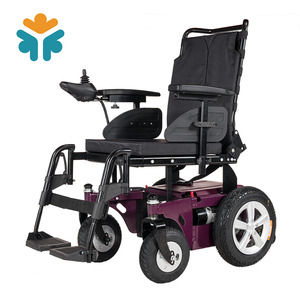 Light Weight Big Wheels Power Foldable Electric Wheelchair with Joystick Controller