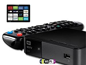 Western Digital WDBHG70000NBK-HESN (RECERTIFIED) 1080p WD TV Live Streaming Media Player with Wi-Fi - FREE HDMI cable