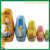 5pieces russian doll set custom Matryoshka doll set hand painted matryoshka for sale