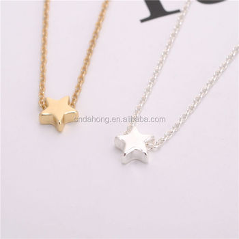 Custom Fashion New Designs Simple Gold Necklace Pendant Gold
