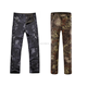 Male's Camo Pattern Softshell Sharkskin Tactical Fleece Pant / Military Army Trouser / Waterproof Hunting Camping Pants