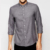 soften wash Shirt in Grey Marl with Long Sleeves