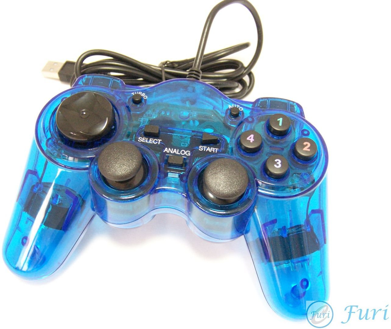 Blue Arcade Joystick USB 2.0 Game Pad Controller for Pc Products