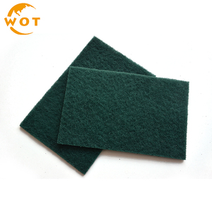 150X230Mm Rectangle Green Scouring Pad For Wood And Metal Surface