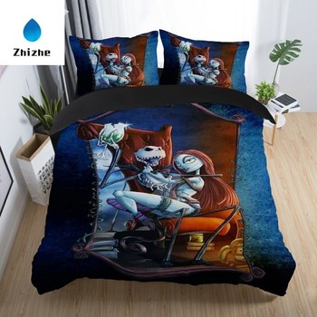 3D style Nightmare Before Christmas print bed cover set ready to ship
