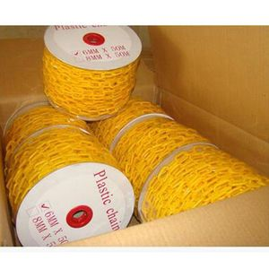 6mm 8mm Traffic Warning Post Linked Chain Plastic Chain