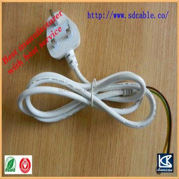 ac cable uk plug flat electrical power extension cordus eu au uk plug avaliable