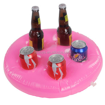 Inflatable Beer Can Holder Pool Float Cup Holder Pool Float Toys