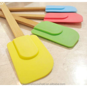 Hot Sale BPA free Silicone Spatulas with wooden handle
