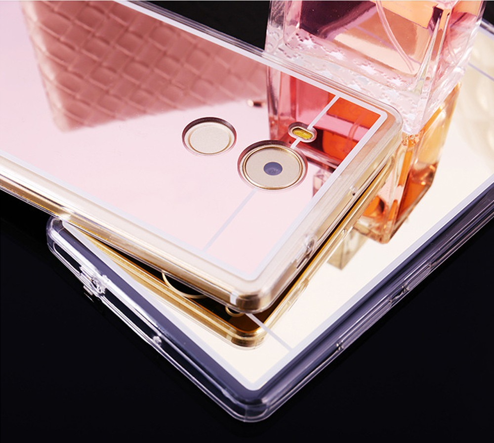 Luxury back soft frame tpu Mirror phone case for samsung galaxy note3 note4 note5 s3 s4 s5 s6 s6 s7 s8 edge plus