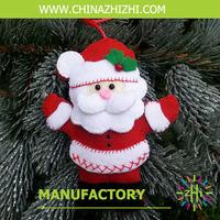 popular handmade chrismas santa ornament, hanging home decoration