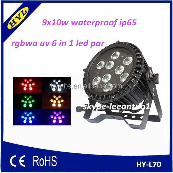 2015 new item cheap waterproof dmx 6in1 rgbaw uv led par can light for sale