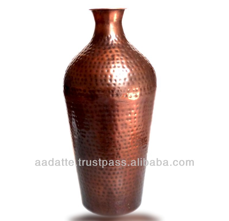 New Style Home Decoration Vase Tall Hammered Copper Vase Buy