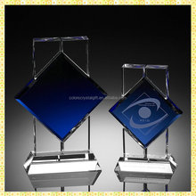 Exquisite Engraved Tree Shaped Crystal Award Trophy For VIP Honor Awards