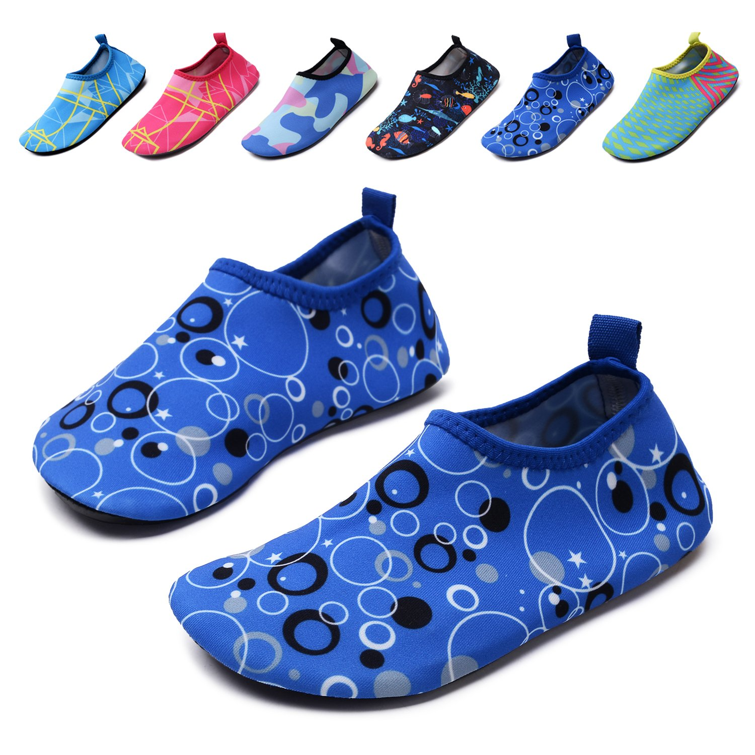 8a71af6b2 Get Quotations · Lewhosy Kids Boys and Girls Swim Water Shoes Quick Drying Barefoot  Aqua Socks Shoes for Beach