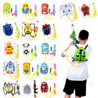 new summer toy beach toy kid pull backpack water gun