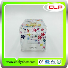 Hard plastic printing frosted rectangular pvc packaging clear box