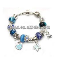 Fashionable Metal Bracelets with Pandora-Beads,Alloy Jewelry Bracelets,Beaded Charms Bracelets Jewelry