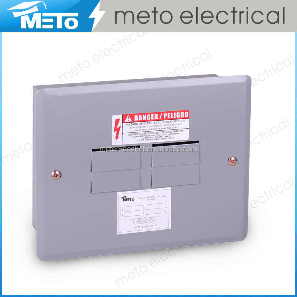 Zhejiang 1.2-1.5mm MTE Series 4 way Meto TYE type outdoor electrical panel boxes suitable for South American Market