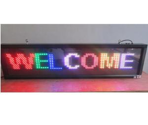 customized electronic led panel sign / led indoor outdoor message sign