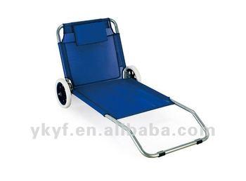 Sedia a sdraio pieghevole con ruote senza schermo del sole buy