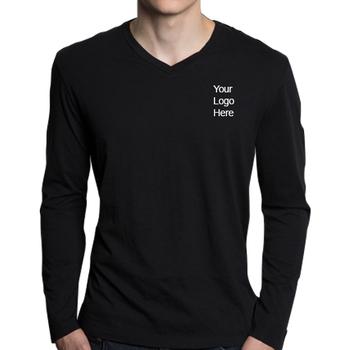 a47d57a2e7ad2 High Quality Custom DIY T-shirts O neck design blank custom longsleeve t  shirts