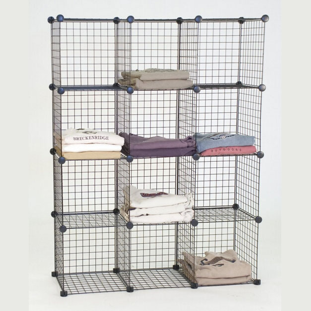4 cubes Grid Wire Modular Shelving And Storage Cubes(FH-ALW0016 ...