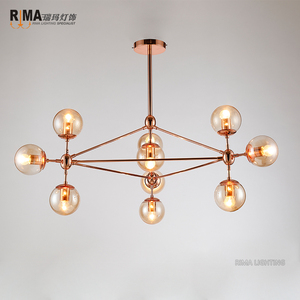 Rima Lighting New Model Indoor Ceiling Fancy Rose Gold Pendant Light with Glass Ball