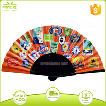 High quality customized bamboo fabric hand fans for event