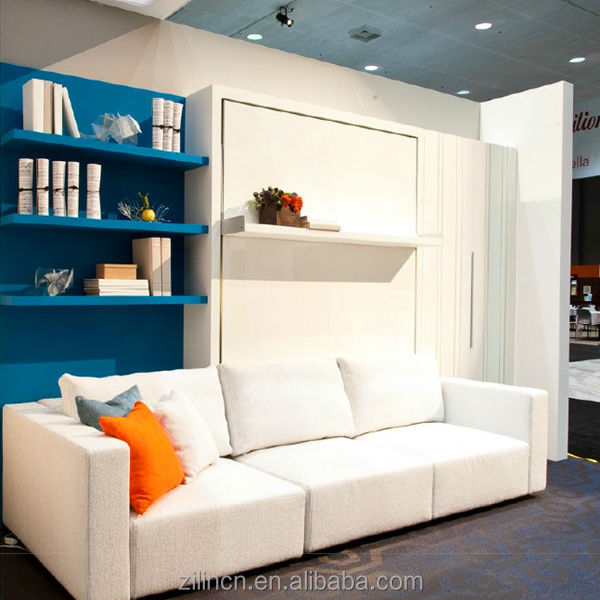 hochwertige falt klappbett versteckte schrankbett klappbett mit sofa platzsparende m bel bett. Black Bedroom Furniture Sets. Home Design Ideas