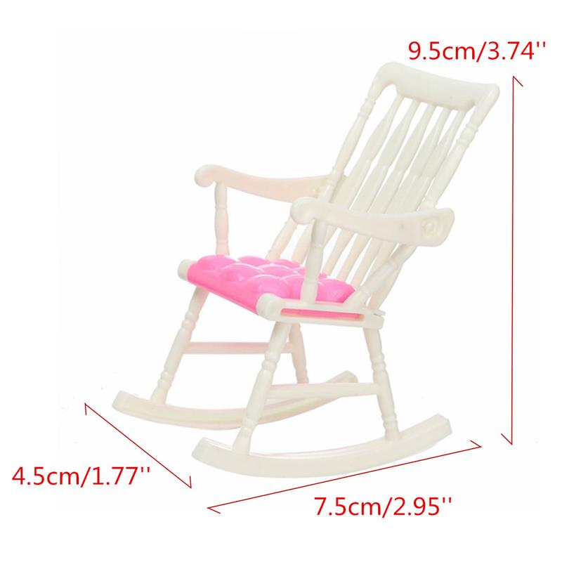 Random Color Online Shop Efficient 2 Pieces Miniature Rocker Chairs Furniture For Dollhouse Beach Rocking Toy Chair Dolls & Stuffed Toys