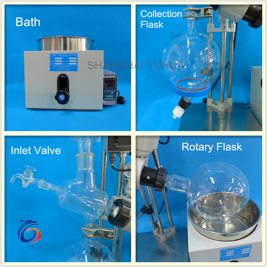 Mini Multi Effect Rotary Evaporator With Manual Water Bath