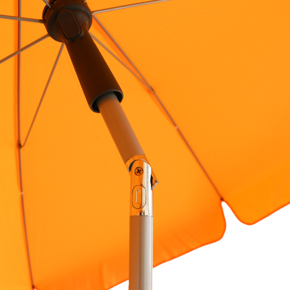 6.5ft round beach umbrella with 160G polyester and zinc titl