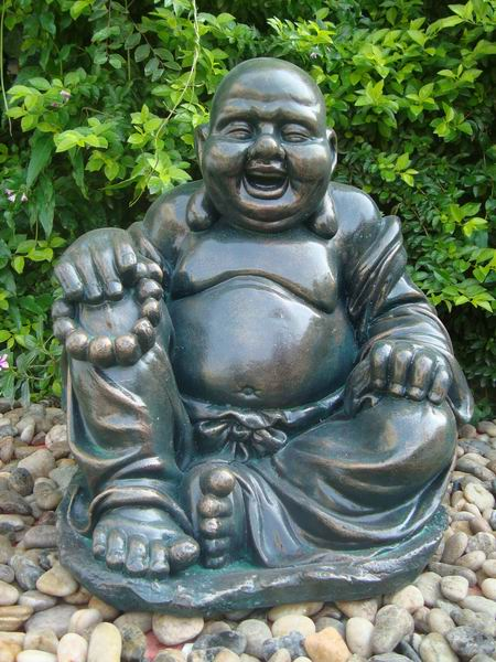 large size polyresin laughing buddha garden statue for. Black Bedroom Furniture Sets. Home Design Ideas