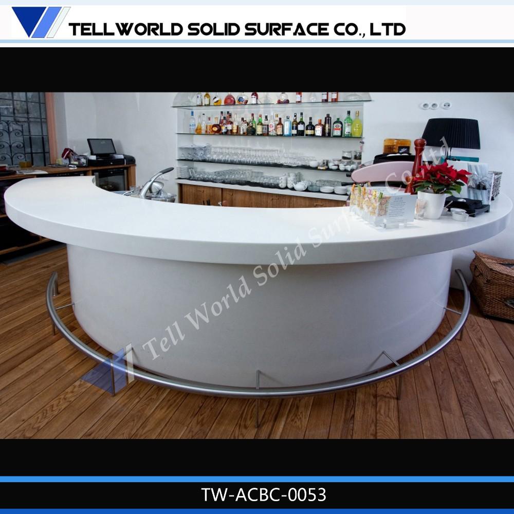 White Acrylic Bar Counter Table Half Round Mini Bar Counter   Buy Half  Round Bar Counter,Acrylic Bar Counter,Mini Bar Counter Product On  Alibaba.com
