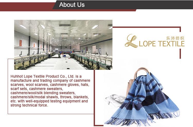 LOPE de moda impreso personalizado a granel bufanda de lana