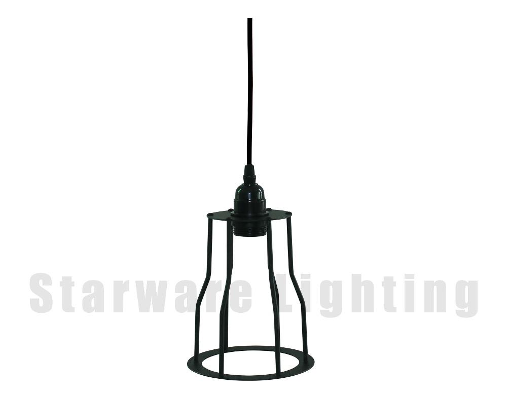 industrial metal cage rustic pendant light industrial