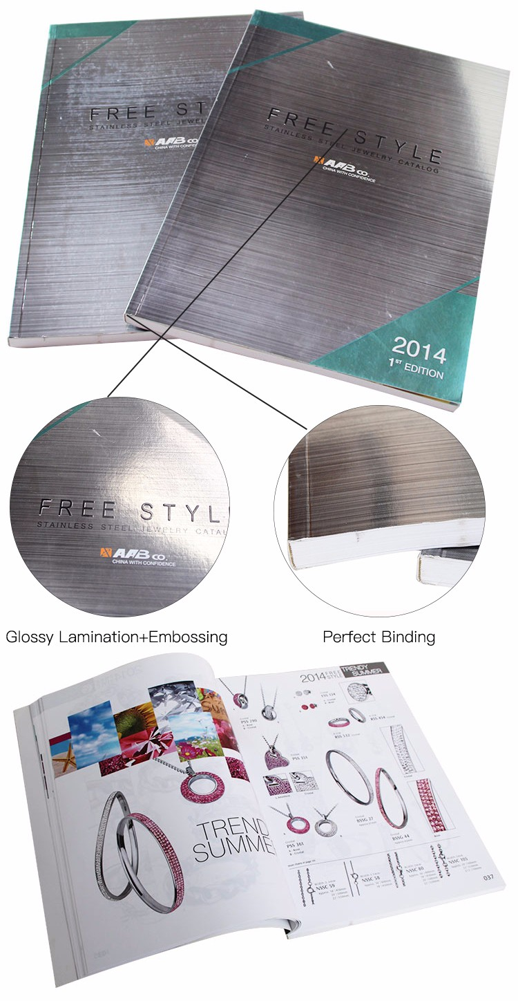 Wholesale cheap custom logo printed glossy low cost cheap brochure magazine catalog printing