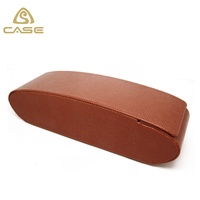 2017 fasion handmade glasses case PU leather folding glasses case
