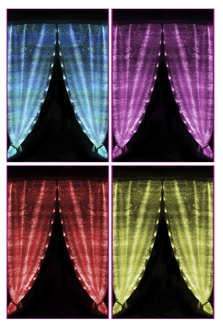 Fashion Flashing Led Light Glow In The Dark Stars Stage Luminous Fiber Optic Curtain