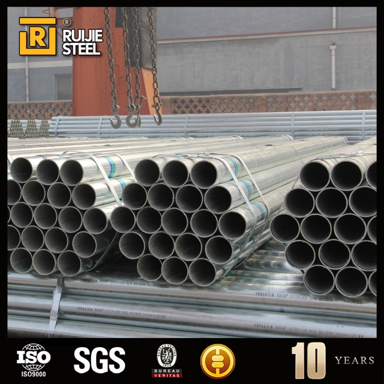 green house building material tube , construction galvanized steel pipe , schedule 40 galvanized steel tube for water