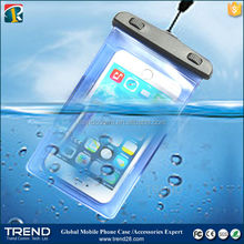 hot selling transparent pvc waterproof bag for iphone 6 with arm blet
