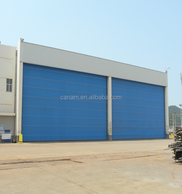 sectional garage door/industrial door with pedestrian doorand windows kit