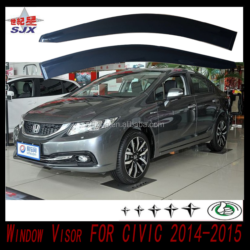Window visor for civic 2014-2015 welcome customize factory supply directly